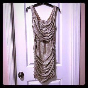 Gorgeous metallic cocktail dress
